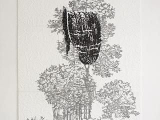 landschapbladCarien Vugts, kunstenaar, werk-in-situ, tekeningen, wandobjecten, recent works, drawings, objects, work in situ, installaties, site specific art